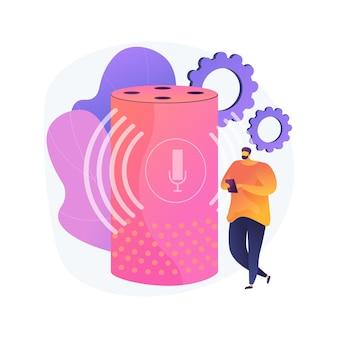 Illustration de concept abstrait de haut-parleur intelligent