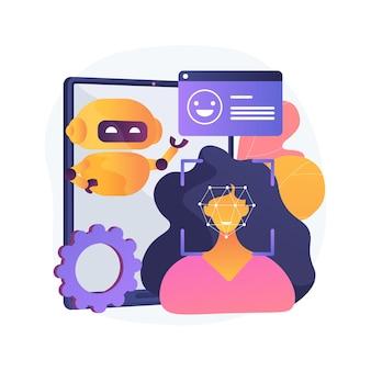 Illustration de concept abstrait informatique affective