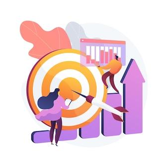 Illustration de concept abstrait initiative de données