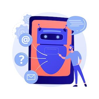 Illustration de concept abstrait d'intelligence artificielle chatbot