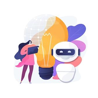 Illustration de concept abstrait d'intelligence augmentée