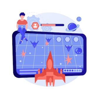 Illustration de concept abstrait de jeu d'action