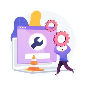 Illustration de concept abstrait de maintenance de site web