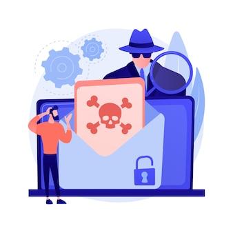 Illustration de concept abstrait de malware