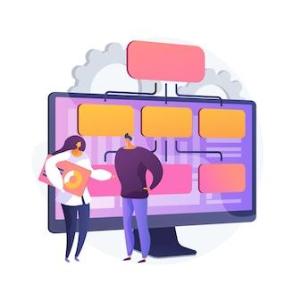 Illustration de concept abstrait de modèle d'entreprise basé sur les données