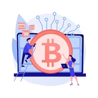 Illustration de concept abstrait de monnaie numérique