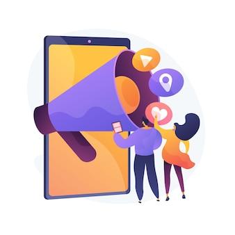 Illustration de concept abstrait de nouvelles et de conseils sur les médias sociaux