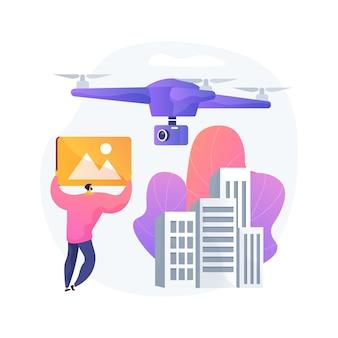 Illustration de concept abstrait de photographie aérienne