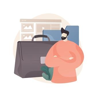 Illustration de concept abstrait de portefeuille