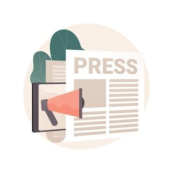 Illustration de concept abstrait de presse
