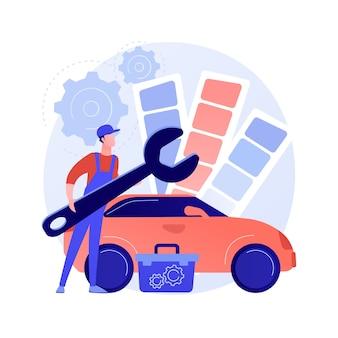 Illustration de concept abstrait de réglage de voiture