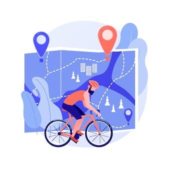 Illustration de concept abstrait de réseau de pistes cyclables