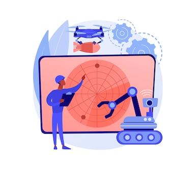 Illustration de concept abstrait de robotique militaire
