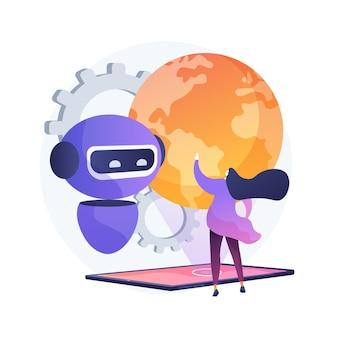 Illustration de concept abstrait de singularité technologique