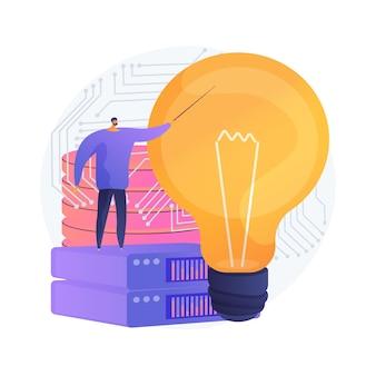 Illustration de concept abstrait de solutions de données volumineuses innovantes