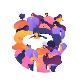 Illustration De Concept Abstrait De Surpopulation. Surpopulation Humaine Mondiale, Surconsommation De Ressources, Zone Densément Peuplée, Croissance De La Population Urbaine, Augmentation De La Population Vecteur gratuit