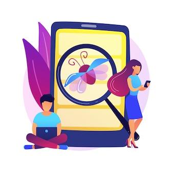 Illustration de concept abstrait de test bêta. nouveau test bêta de produit, expérience utilisateur en prévente, processus de développement logiciel, test de deuxième phase, vérification de l'environnement réel.