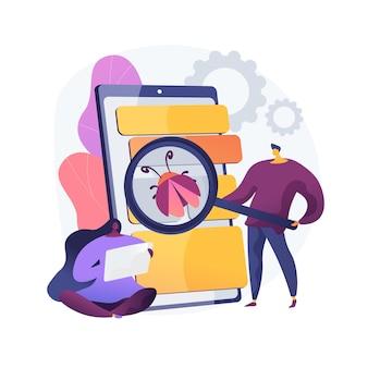 Illustration de concept abstrait de test bêta