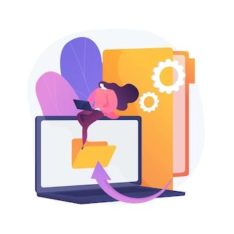 Illustration de concept abstrait de transformation numérique
