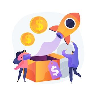 Illustration de concept abstrait de vente incitative