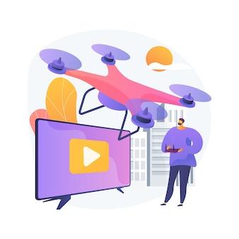 Illustration de concept abstrait de vidéographie aérienne