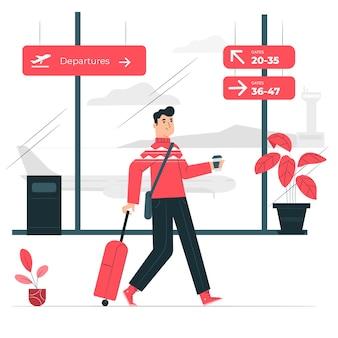 Illustration de concept d'aéroport