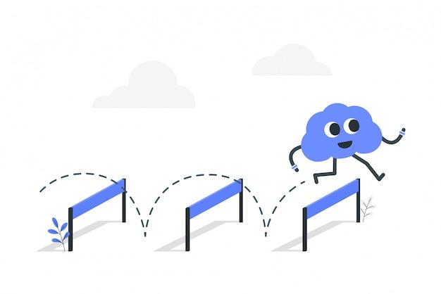 Illustration de concept d'agilité mentale.