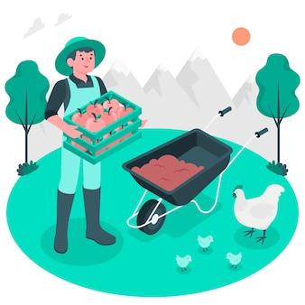 Illustration de concept d'agriculteur