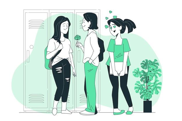 Illustration de concept d'amour platonicien