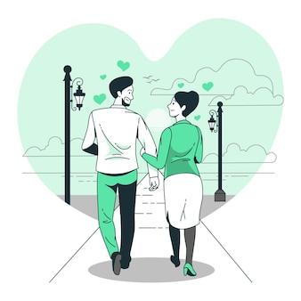 Illustration de concept d'amour
