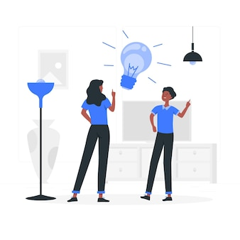 Illustration de concept d'ampoule