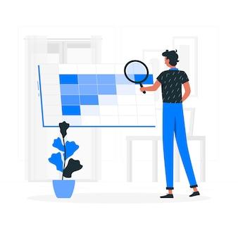 Illustration de concept d'analyse de cohorte