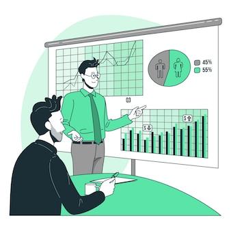 Illustration de concept d'analyse commerciale