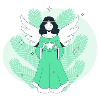 Illustration de concept d'ange de noël