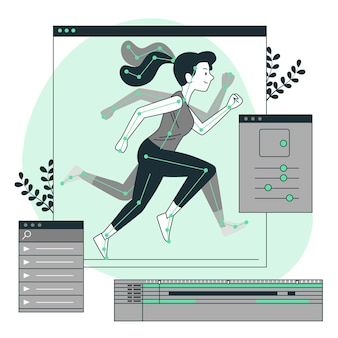 Illustration de concept d'animation (mouvement)