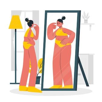 Illustration de concept d'anorexie