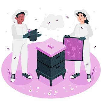 Illustration de concept apicole