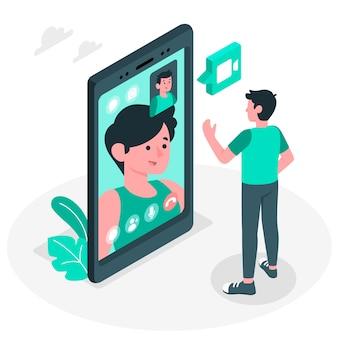 Illustration de concept d'appel vidéo