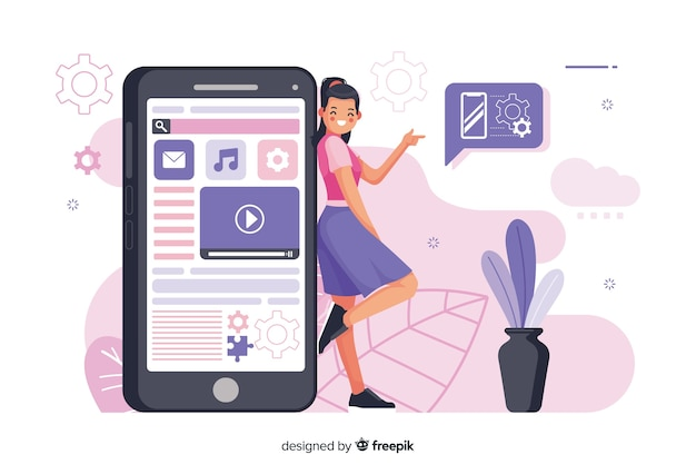 Illustration de concept d'applications mobiles