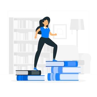 Illustration de concept d'apprentissage