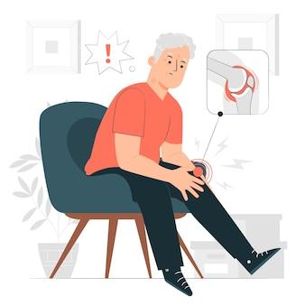 Illustration de concept d'arthrite
