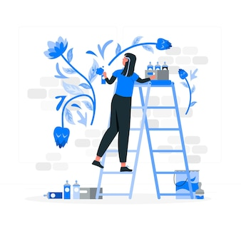 Illustration de concept d'artiste mural