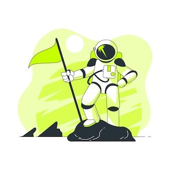 Illustration de concept astronaute