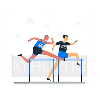 Illustration de concept d'athlétisme