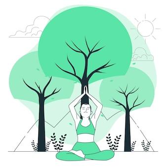 Illustration de concept d'avantages de la nature