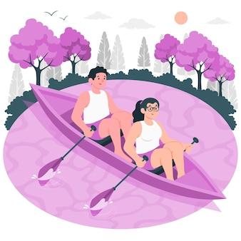 Illustration de concept d'aviron