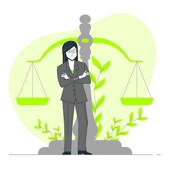 Illustration de concept d'avocat