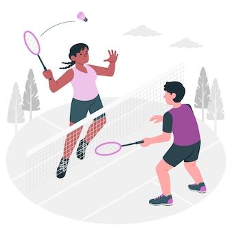 Illustration de concept de badminton