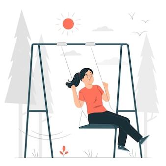 Illustration de concept de balançoire