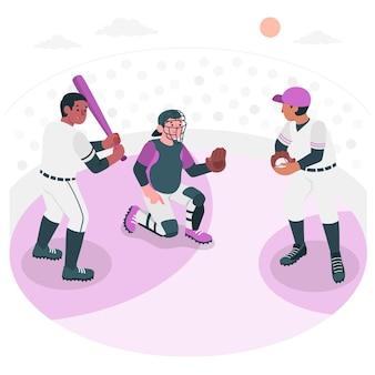 Illustration de concept de baseball